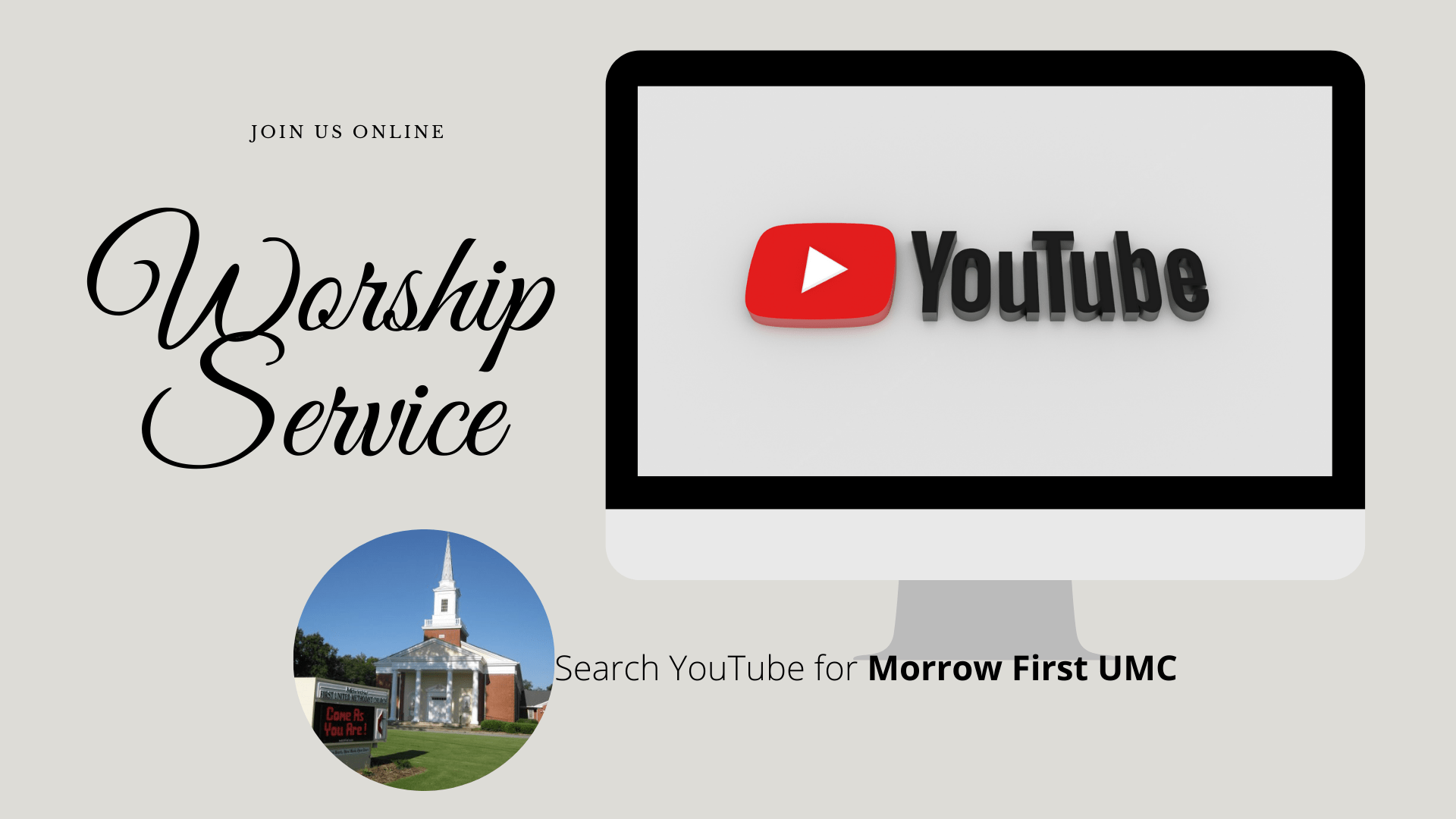 We're Virtual! See Us on YouTube