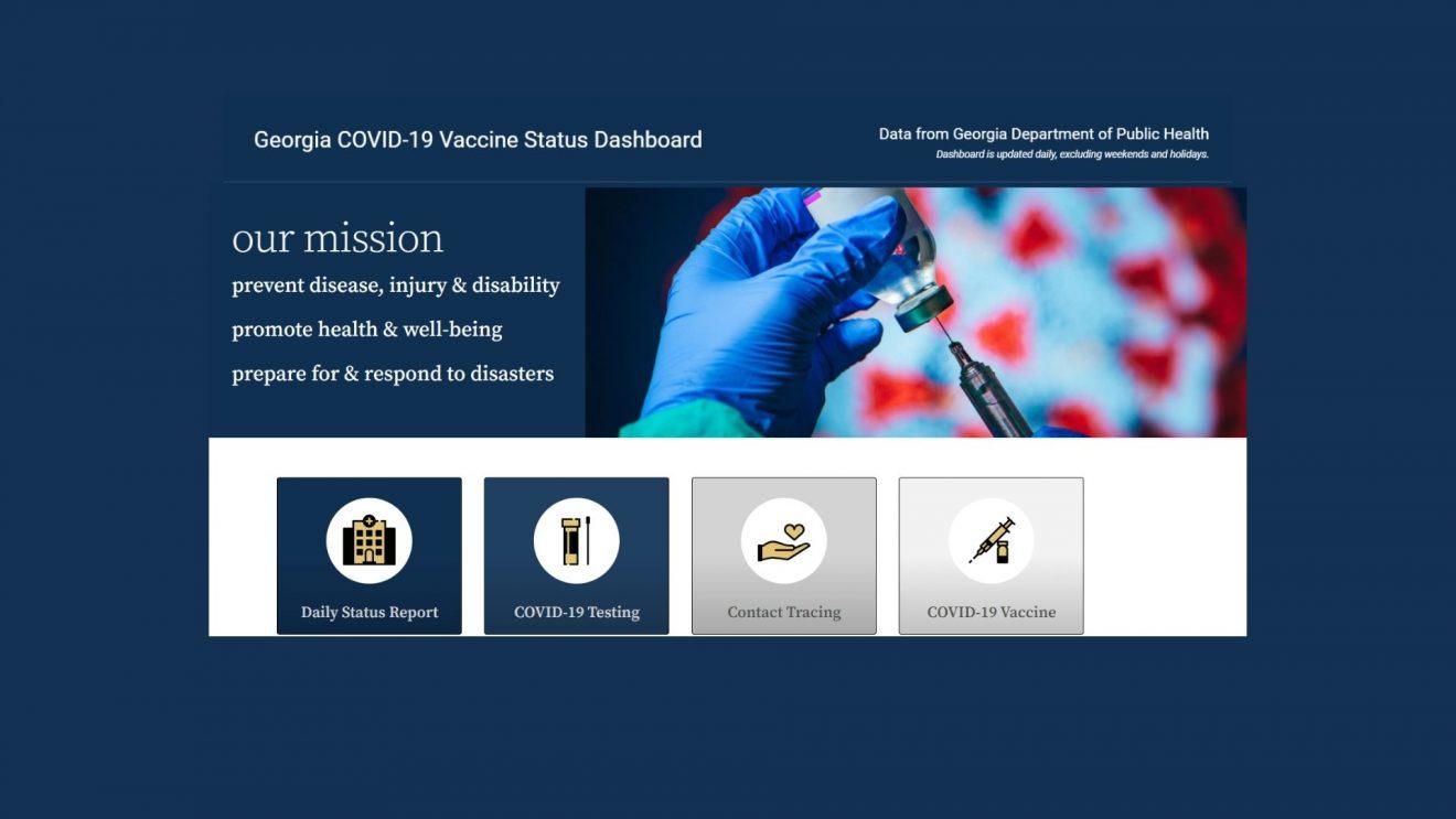 screen shot of Georgia Dept of Public Health Website