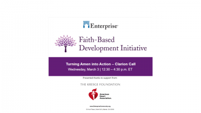 District Training: Faith-Based Affordable Housing Webinar