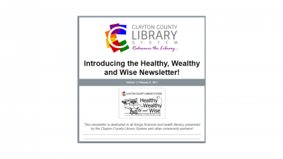 New Email Newsletter from Clayton County Library System