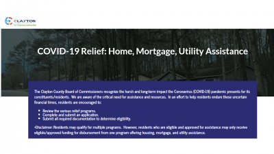 COVID-19 Relief: Home, Mortgage, Utility Assistance