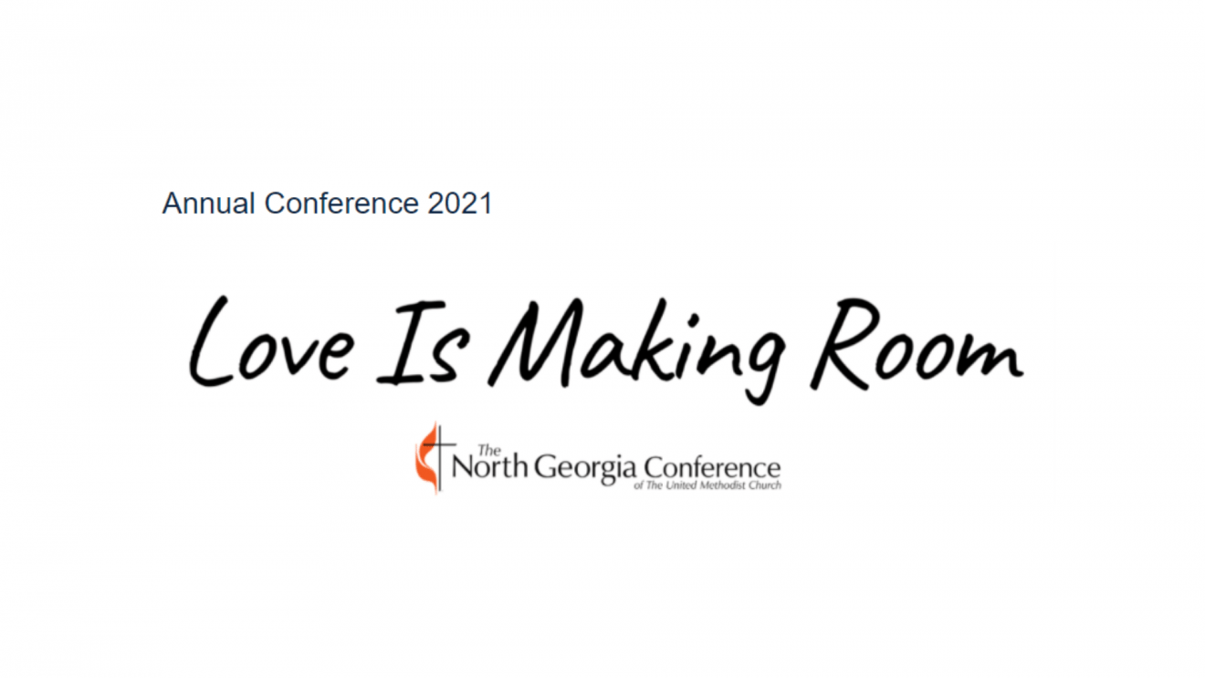 North GA annual conference them Love is making room