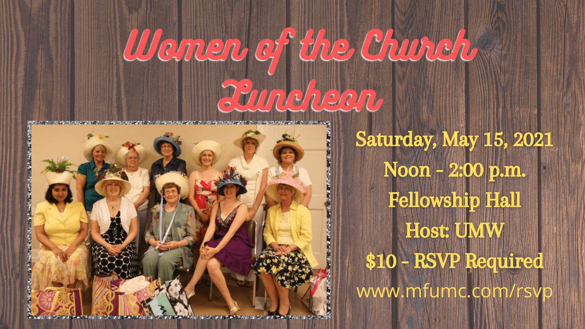 women's luncheon for mothers day
