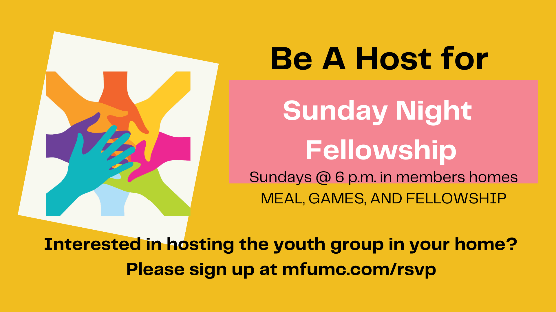 Signup to host our youth